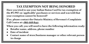 Tax Exemption Not Being Honored