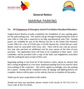 Member Notice Virginai Beach Parking